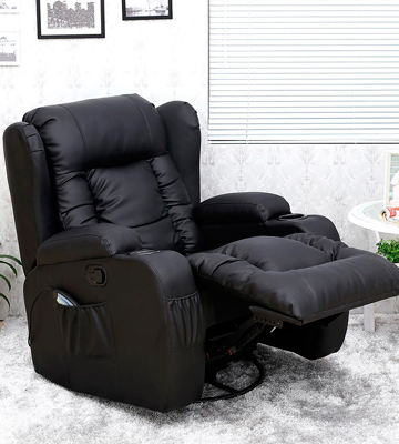 Review of More4Homes (tm) CAESAR 10 IN 1 Leather Recliner Chair Rocking Massage