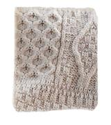 The Wool Company Wool Knit Throw Blanket