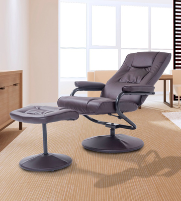 Review of HomCom Lounge Seat w/Footrest Stool Executive Recliner Swivel Armchair
