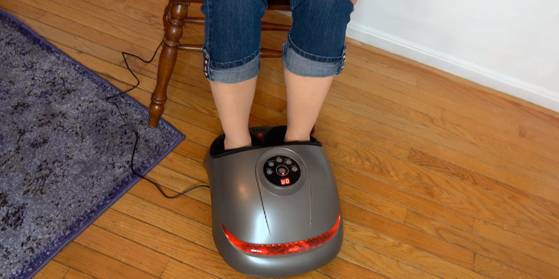 Review of INTEY Shiatsu Foot Massager Heated Feet with Timing/Deflate Function