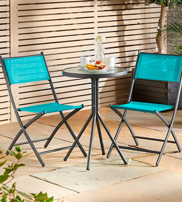 Review of VonHaus 22/068 Garden Table & Chair Bistro Set
