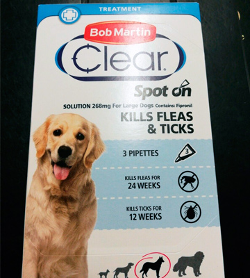 Review of Bob Martin Clear Spot On for Large Dogs