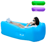 SLB Inflatable Lounger Waterproof Air lounger with Headrest