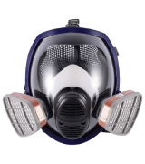 Ohmotor Full Face Absorb Steam and Dust Respirator Mask Activated Carbon