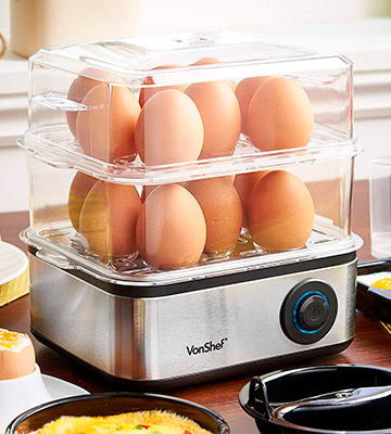 Review of VonShef 13/211 Premium 16 Eggs Electric Egg Boiler with Poacher and Omelette Maker Bowl