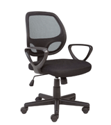 Hippo (OE1002BK) Essentials Mesh Chair for Home and Office