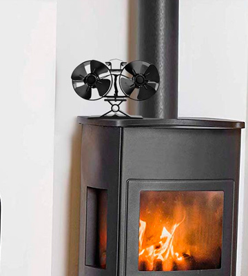 Review of CRSURE Fireplaces 8 Blade Stove Fan