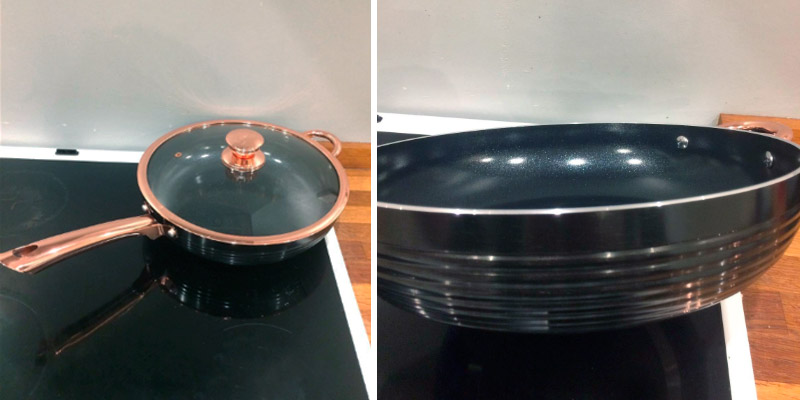 Review of Tower 28cm Linear Saute Pan with Easy Clean Non-Stick Ceramic Coating
