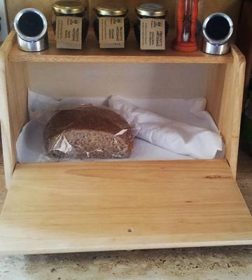 Review of Apollo Wood Drop Down Front Bread Bin