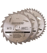 Silverline 801292 TCT Circular Saw Blades 20, 24, 40T - Pack of 3