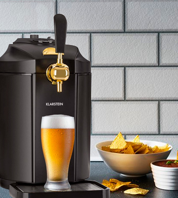 Review of Klarstein TK49-90500-SkBL Beer Tap Dispenser Integrated Thermoelectic Beer Cooler 5 Litre Keg