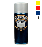Hammerite Direct to Rust Metal Paint Aerosol Smooth Silver