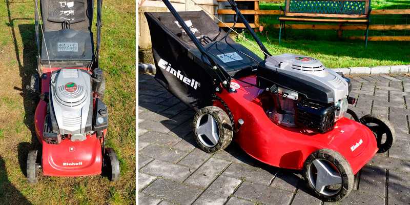 Einhell GC-PM 46 S Self Propelled Petrol Lawnmower in the use