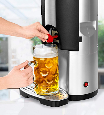 Review of Syntrox Germany BC-01 Bier Chef Beer cooler with thermoelectric cooling for 5 litre kegs