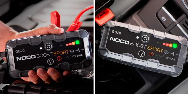 NOCO Boost Sport GB20 Car Battery Jump Starter in the use