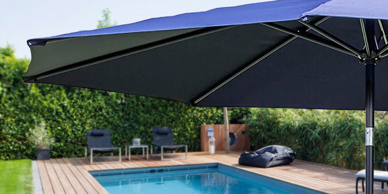 Review Of Alfresia Aluminium Wind Up Garden Parasol Sun Shade Patio Outdoor  Umbrella 3m