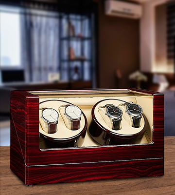 Review of JQueen W004 Automatic Wood Watch Winder storages box