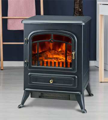 Review of HomCom 820 Freestanding Electric Fire Place Stove