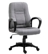 Cherry Tree Furniture Swivel Grey Fabric Office Computer Chair