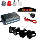 TKOOFN M04003-00 Car Parking Reverse Reversing Backup Radar System with 4 Parking Sensor Kit LED Display