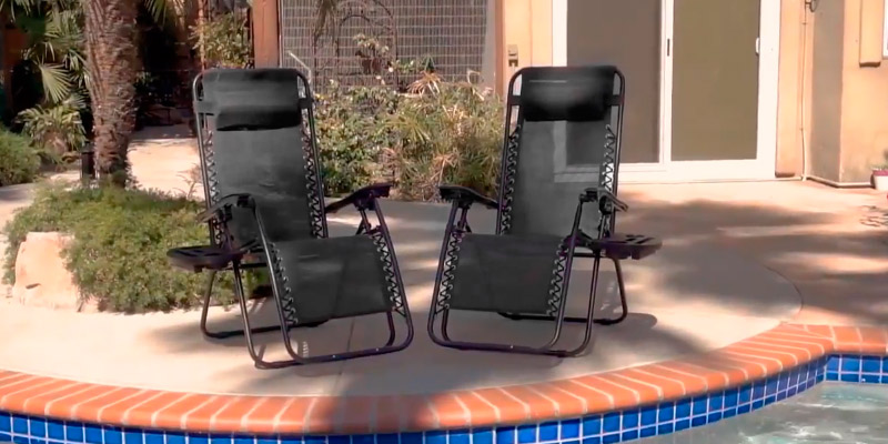 Review of Multi Bargains Zero Gravity Chair Heavy Duty, Textoline, Set of 2