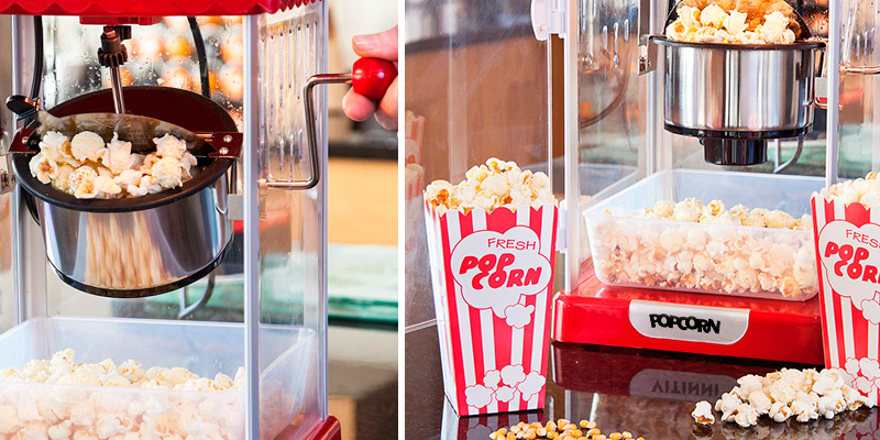 Global Gizmos 54500 Cinema Style Party Popcorn Maker Machine in the use