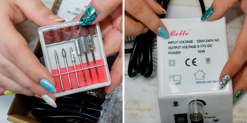 Belle 20000RPM Electric Nail Drill in the use
