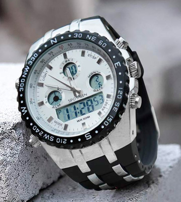 Review of SPOTALEN Mens Digital Sports Watch Military Waterproof Analogue Watch