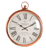 SIL Kensington Station Wall Clock Round Copper Roman Numeral Pocket