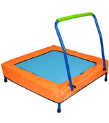 NEWSKY Mini Trampoline for Kids (2049Bu) with Handle and Carry Bag Square