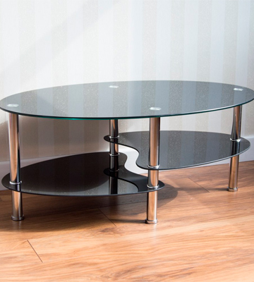 Review of Home Discount Cara Black Glass Coffee Table