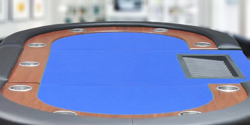 Review of Anself PKU5919247862368IP 10-Player Poker Table with Dealer Area and Chip Tray Blue