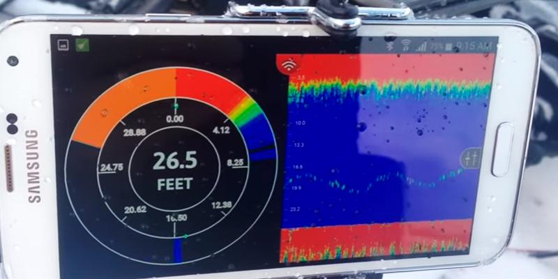 FishHunter Directional 3D Wireless Portable Fish Finder in the use