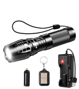 BYBLIGHT Rechargeable LED Torch LED Tactical Flashlight (800 Lumen)