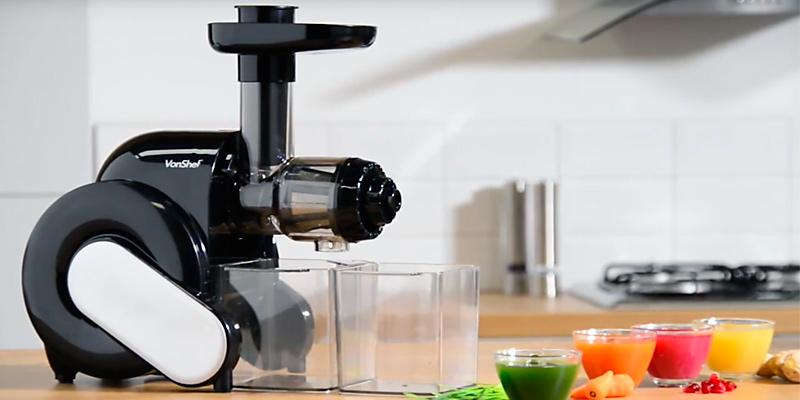 Vonshef Slow Juicer Horizontal Masticating Juice Extractor Wheatgrass Fruit : 5 Best Juicers Reviews of 2018 in the UK - BestAdvisers.co.uk