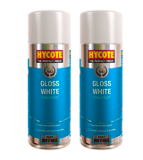 Hycote XDPB907 Gloss White Spray Paint