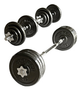 ProIron PRKCAS20K Cast Iron Adjustable Dumbbell Set