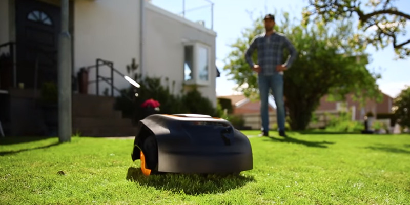 McCulloch ROB 1000 Robotic Lawn Mower in the use