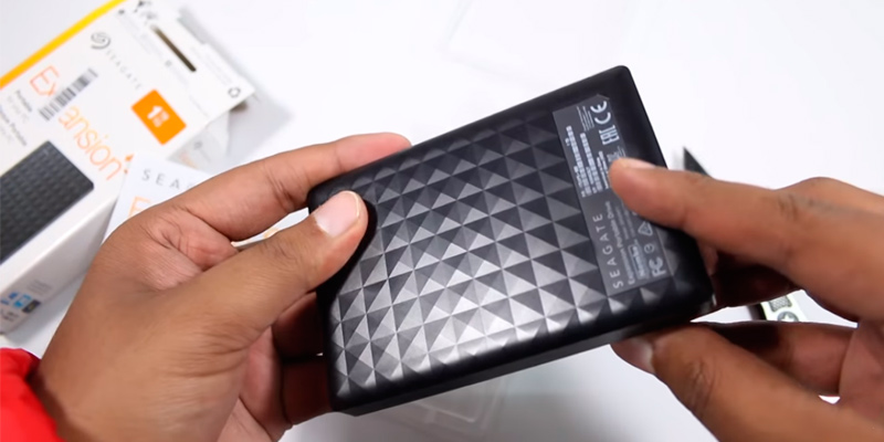 Seagate Expansion External Hard Drive in the use