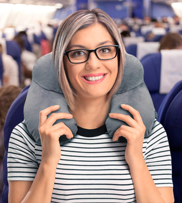 Review of SYCOTEK LENP001GRA Inflatable Travel Pillow
