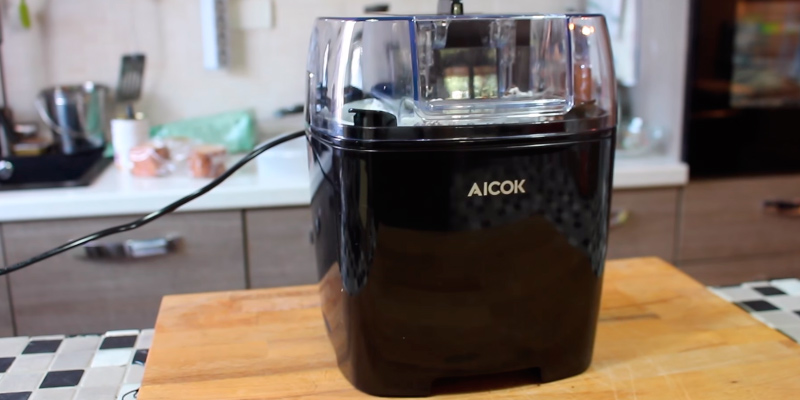 Review of Aicok 1.5L Ice Cream Maker Frozen Yogurt and Sorbet Machine