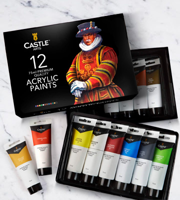 Review of Castle Art Supplies Acrylic Paint Large Set
