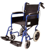 Elite Care ECTR01 Folding Transit Travel Wheelchair with Handbrakes