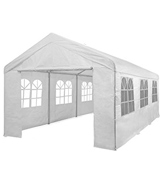 Outsunny 01-0805 Garden Gazebo Marquee Party Tent Wedding Portable Garage Carport shelter Car Canopy Outdoor Heavy Duty Steel Frame Waterproof Rot Resistant