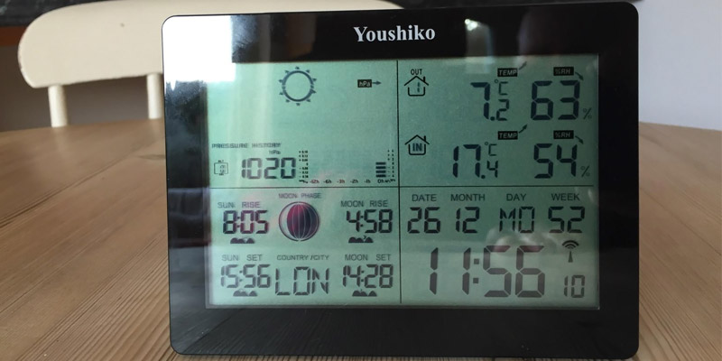 Youshiko YC9360 Digital Wireless Weather Station in the use