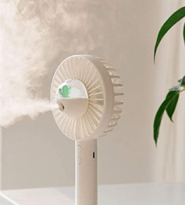 Review of aifulo Mini Handheld Misting Fan with Personal Cooling Mist Humidifier