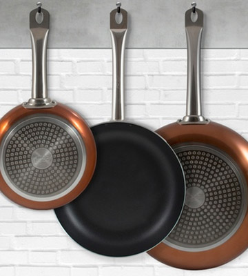 Review of VonShef Q1982 Set of 3 Copper Frying Pan