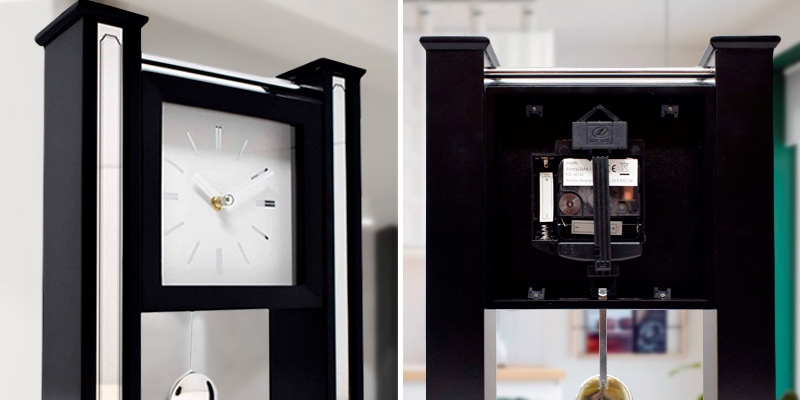 Review of Hometime Ultra Modern Mantel Clock or Wall with Moving Pendulum