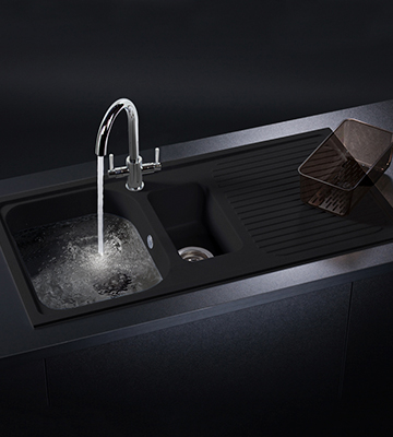 Review of Schock LITD150ON 1.5 Bowl Granite Onyx Black Kitchen Sink