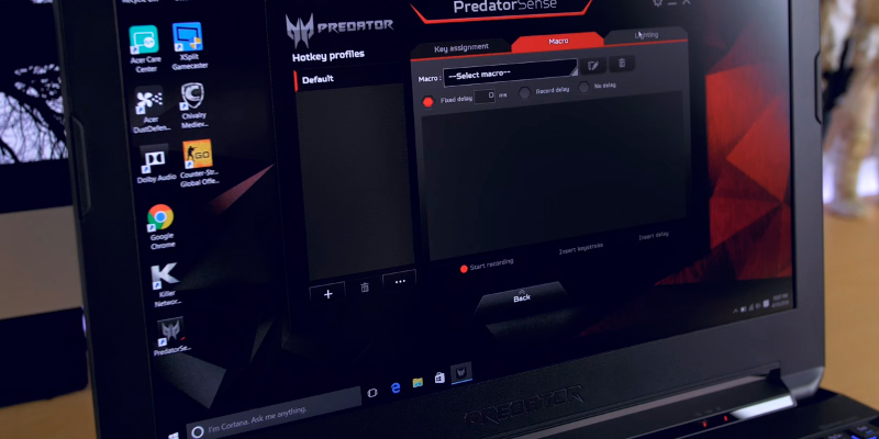 Acer Predator 15.6-Inch Gaming Notebook application